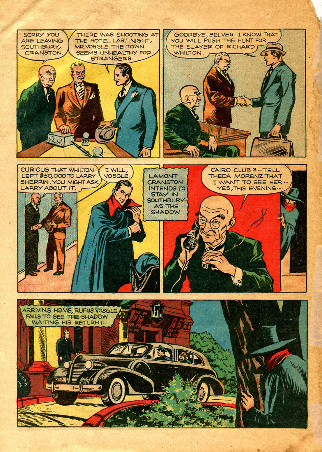 Read online Shadow Comics comic -  Issue #9 - 16