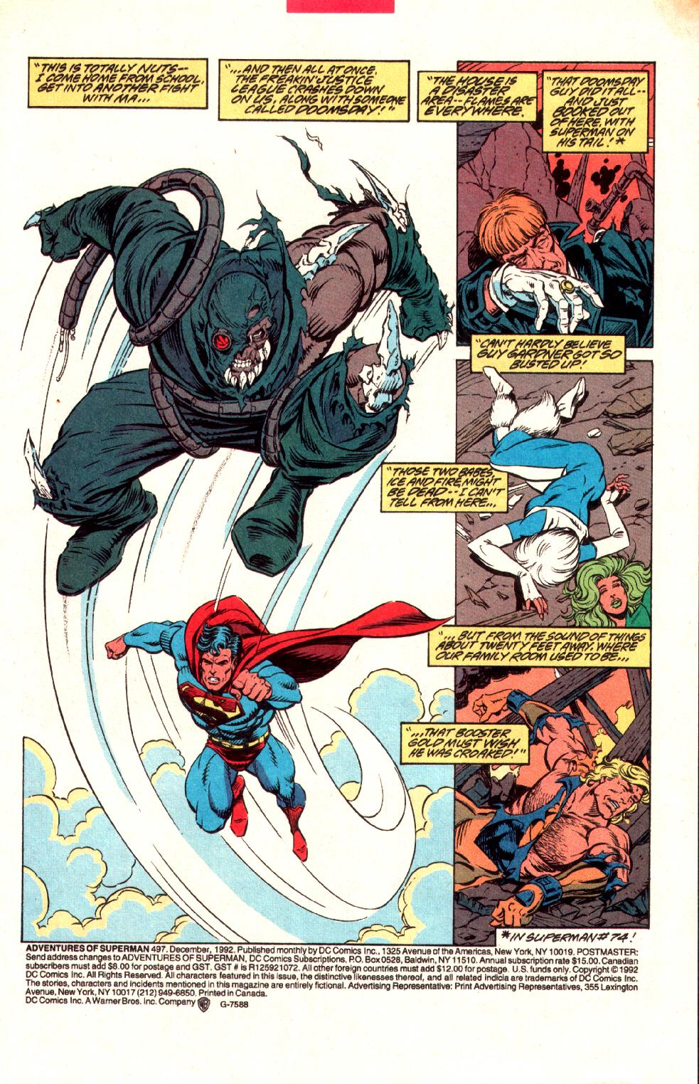Read online Adventures of Superman (1987) comic -  Issue #497 - 2