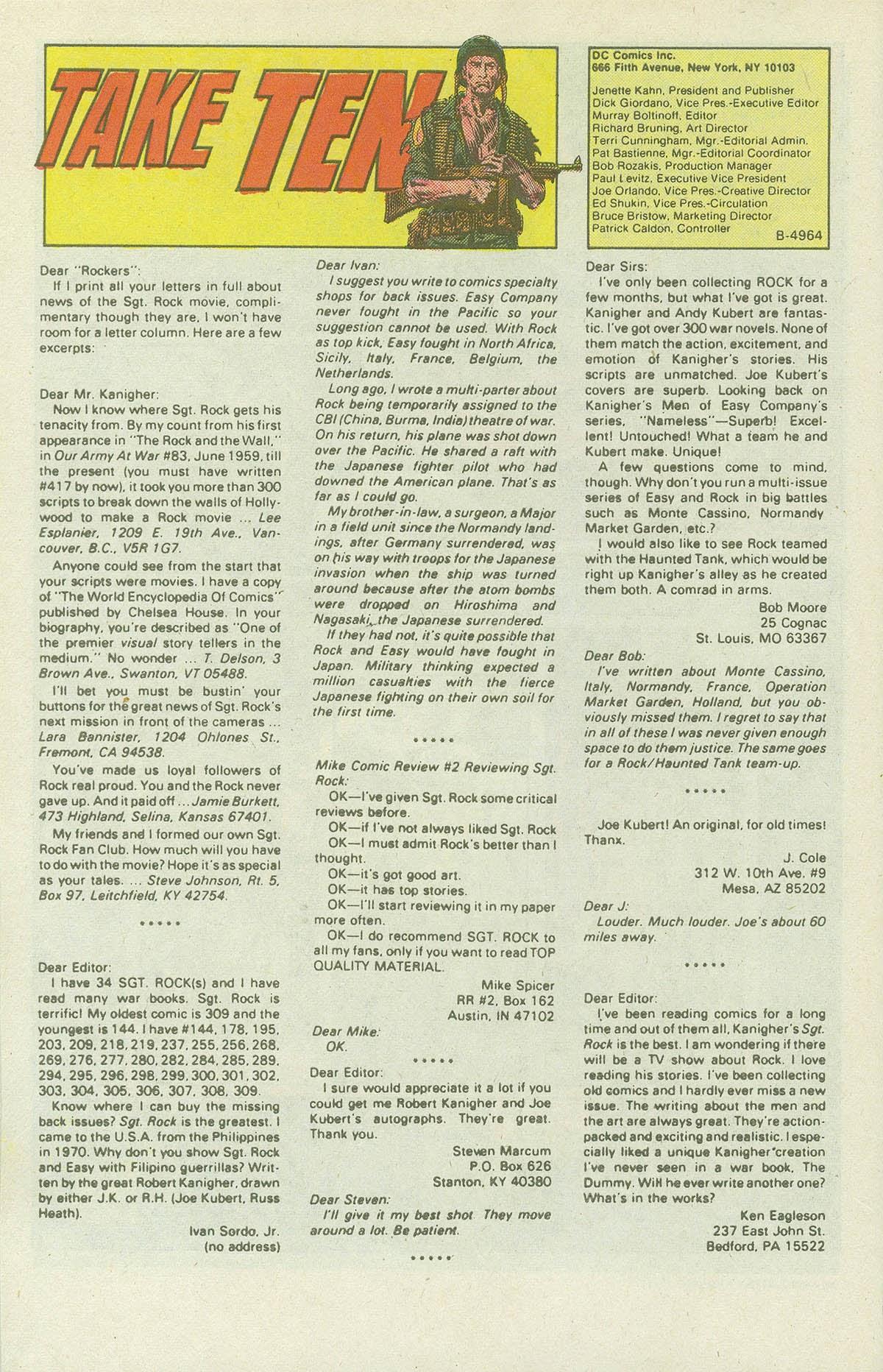 Read online Sgt. Rock comic -  Issue #419 - 30