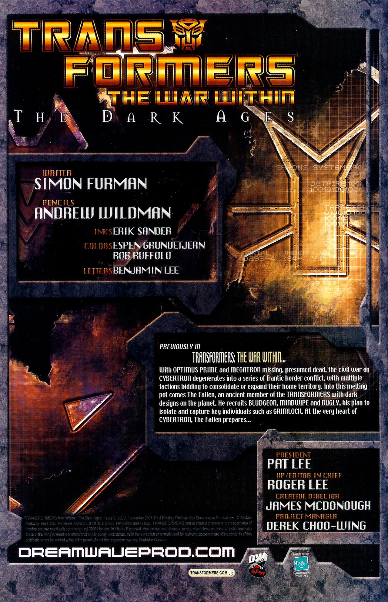 """Read online Transformers War Within: """"The Dark Ages"""" comic -  Issue #2 - 2"""