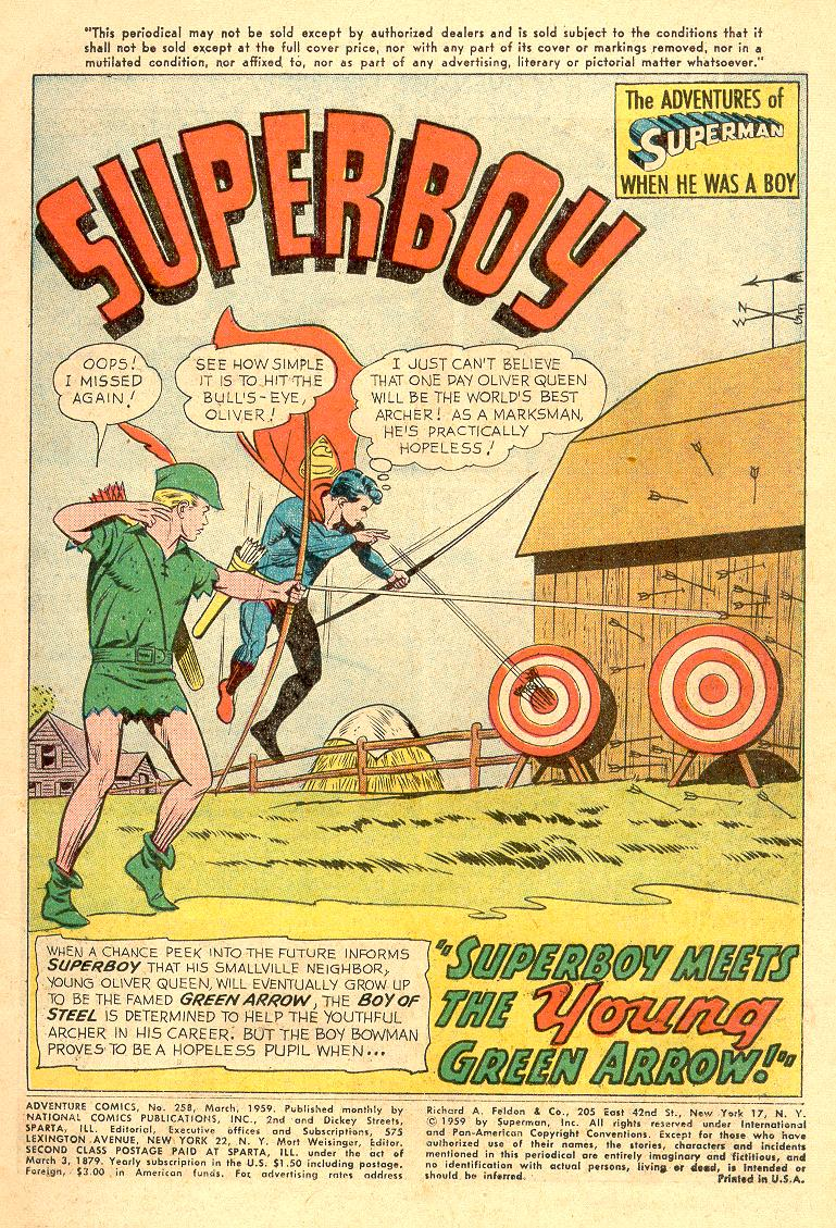 Read online Adventure Comics (1938) comic -  Issue #258 - 3