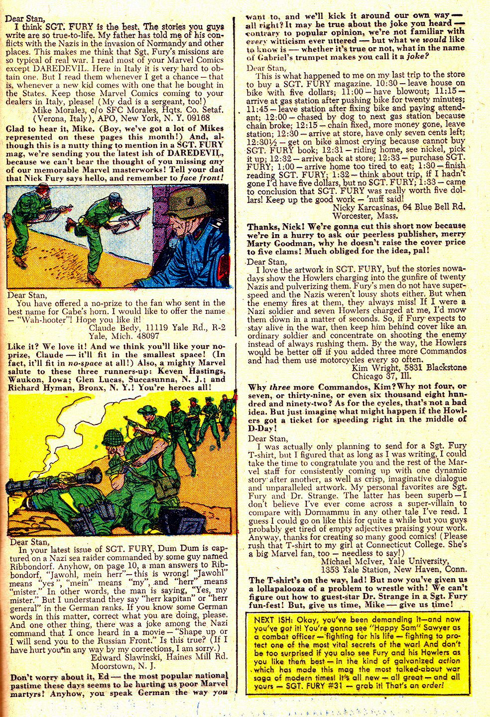 Read online Sgt. Fury comic -  Issue #30 - 33