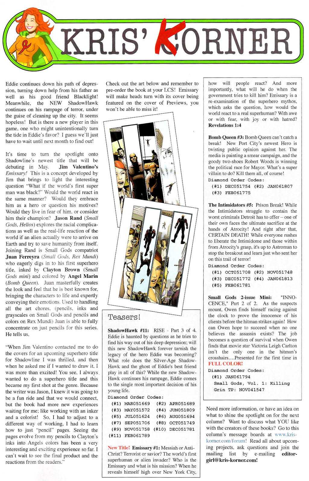 Read online ShadowHawk (2005) comic -  Issue #10 - 26