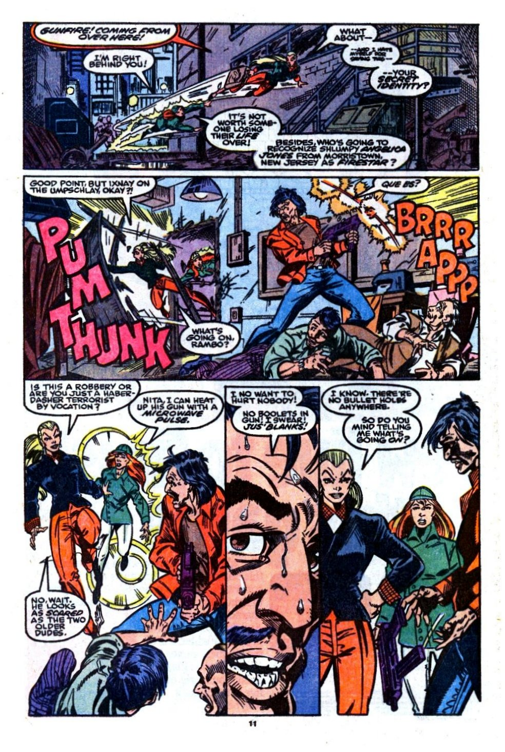 The New Warriors Issue #7 #11 - English 9