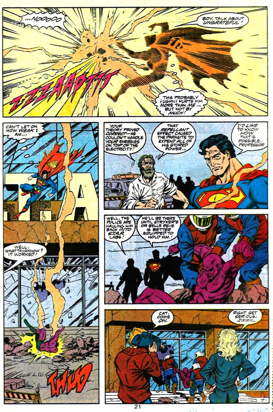 Read online Adventures of Superman (1987) comic -  Issue #482 - 22
