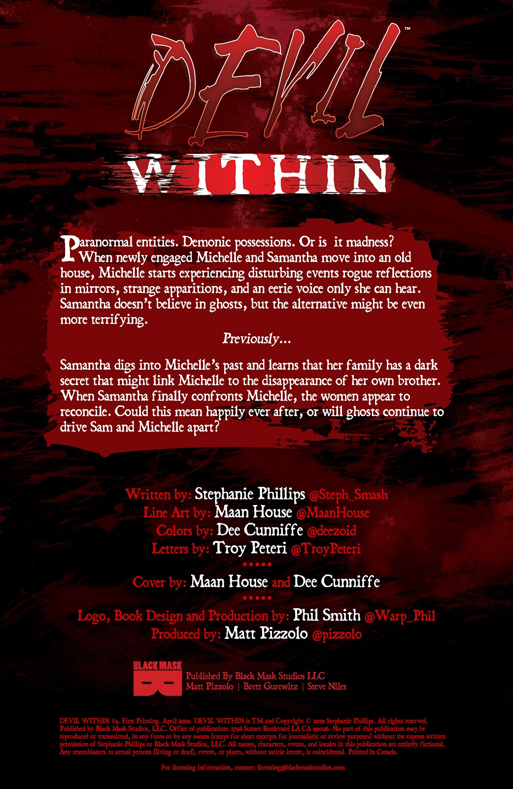 Read online Devil Within comic -  Issue #4 - 2
