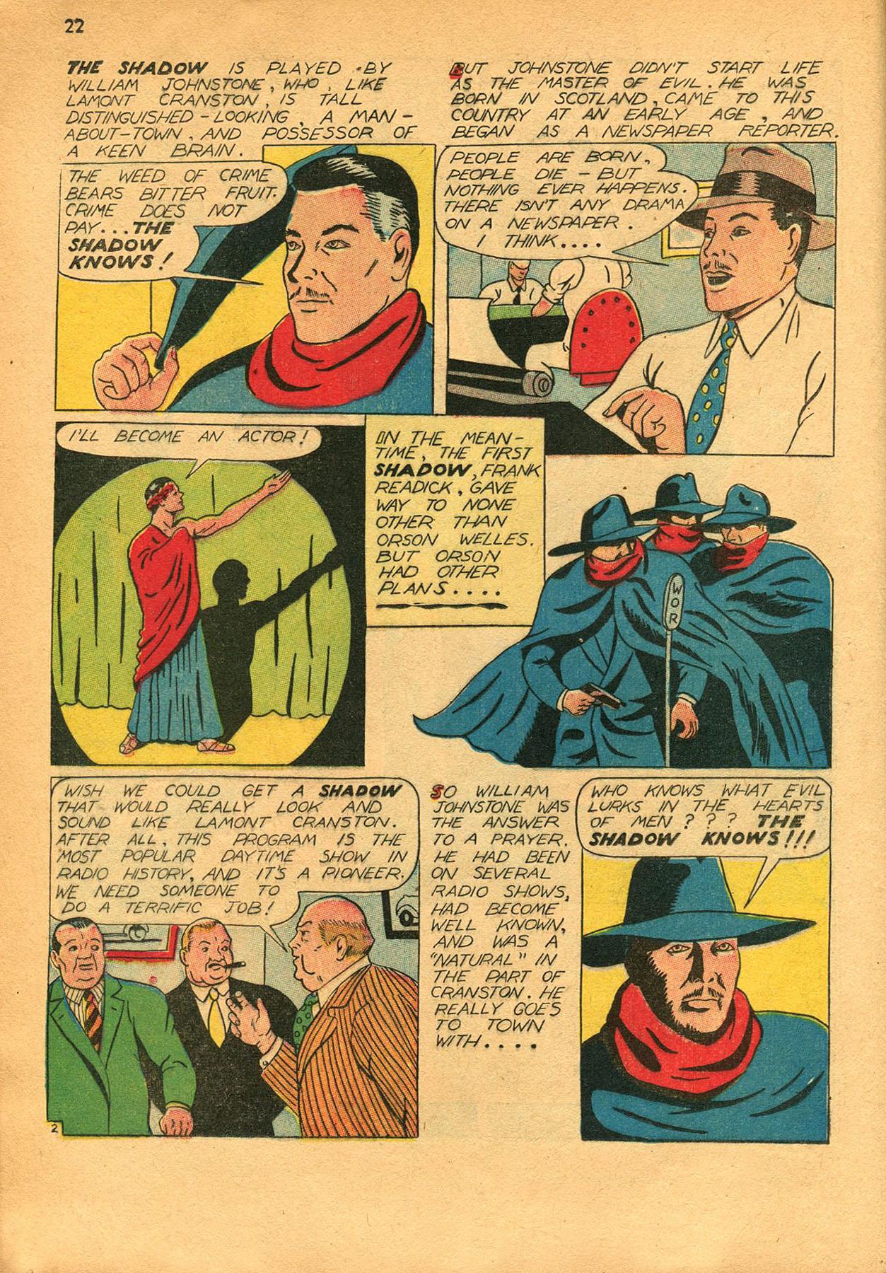 Read online Shadow Comics comic -  Issue #23 - 22