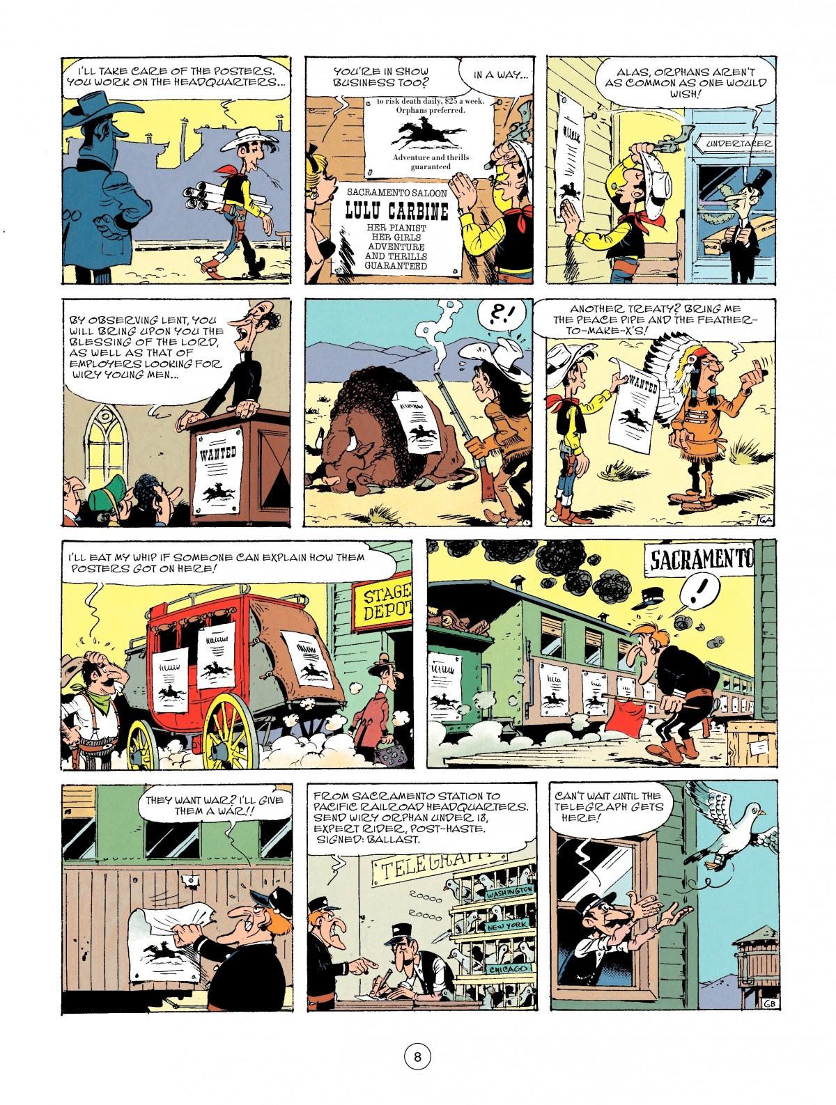 Read online A Lucky Luke Adventure comic -  Issue #46 - 8