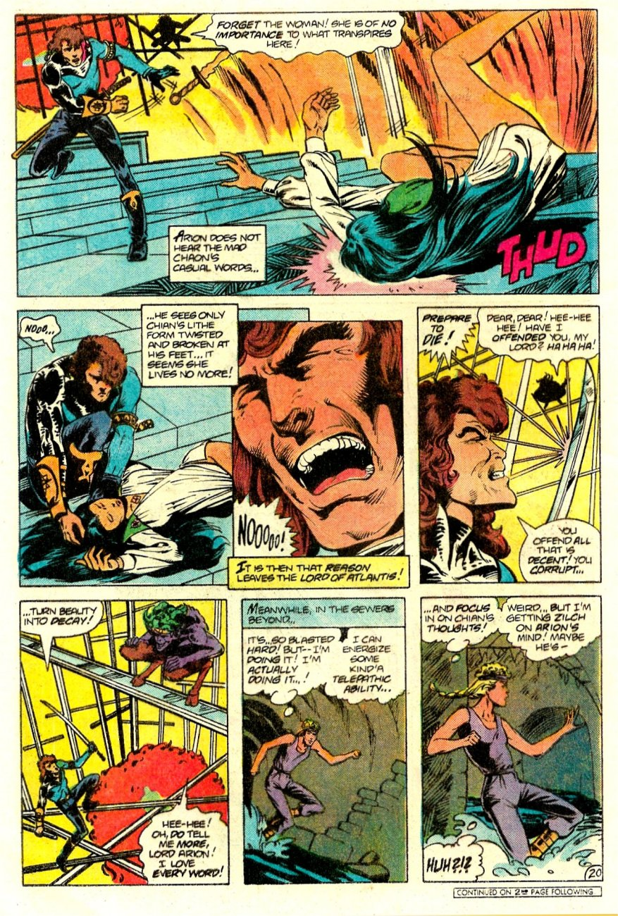 Read online Arion, Lord of Atlantis comic -  Issue #15 - 21