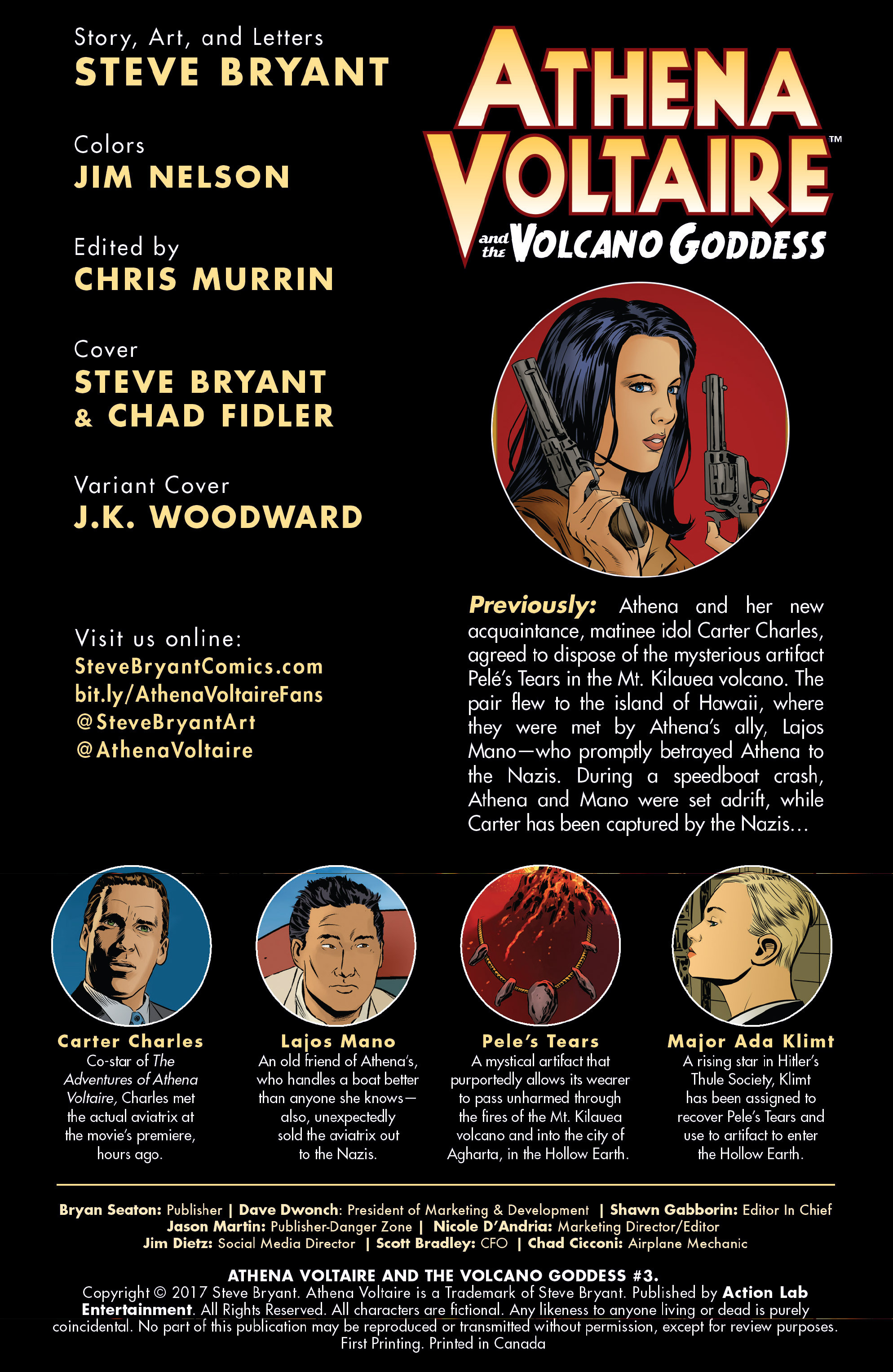 Read online Athena Voltaire and the Volcano Goddess comic -  Issue #3 - 2