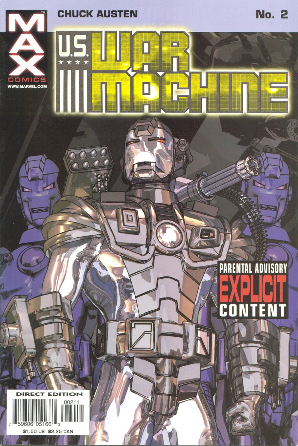 Read online U.S. War Machine comic -  Issue #2 - 1
