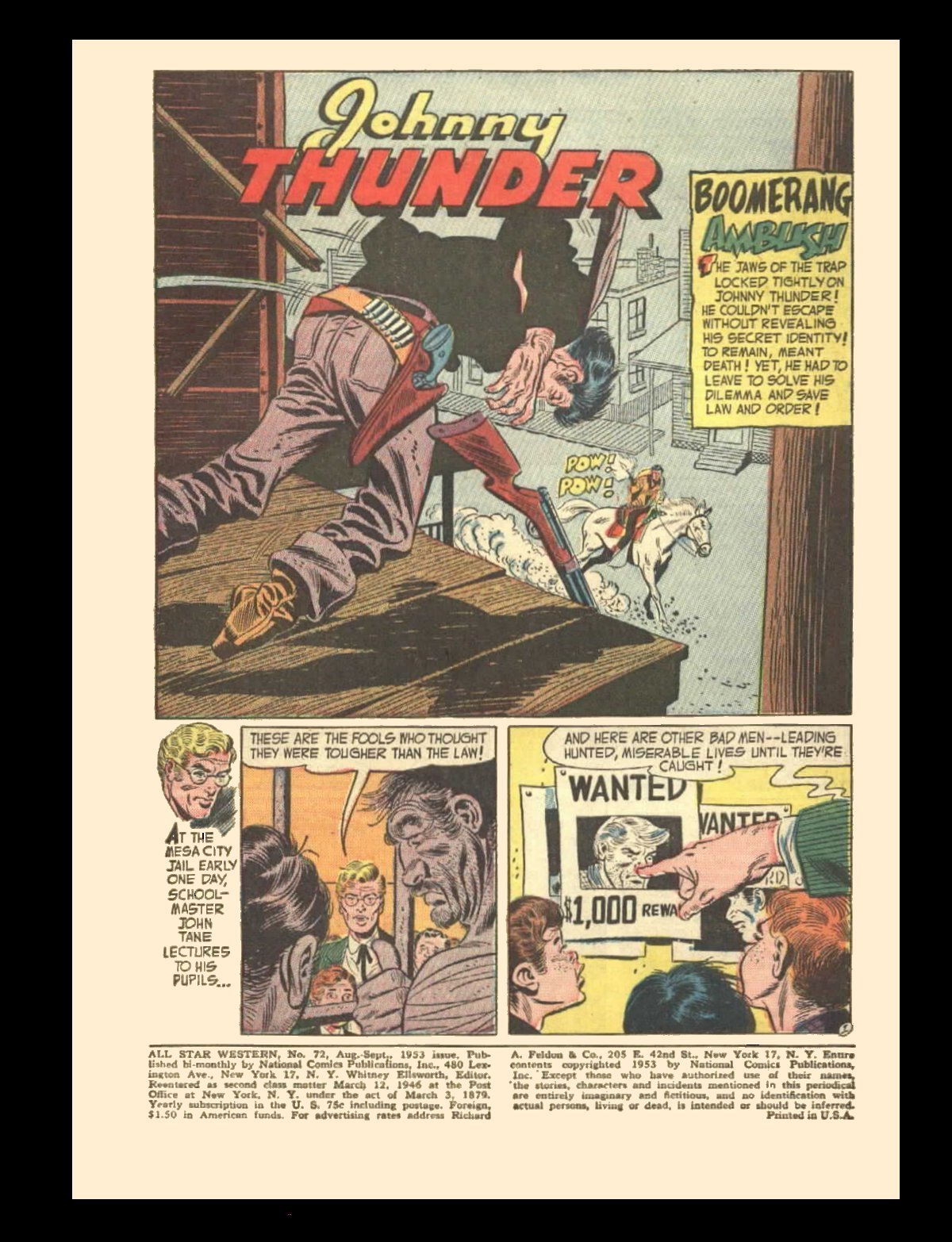 Read online All-Star Western (1951) comic -  Issue #72 - 3
