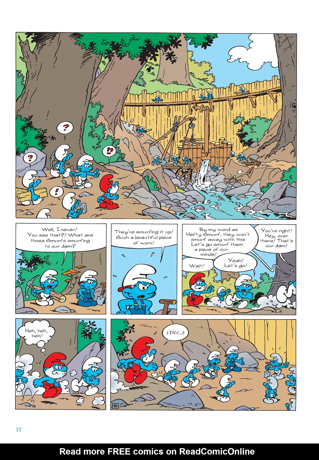 Read online The Smurfs comic -  Issue #22 - 23