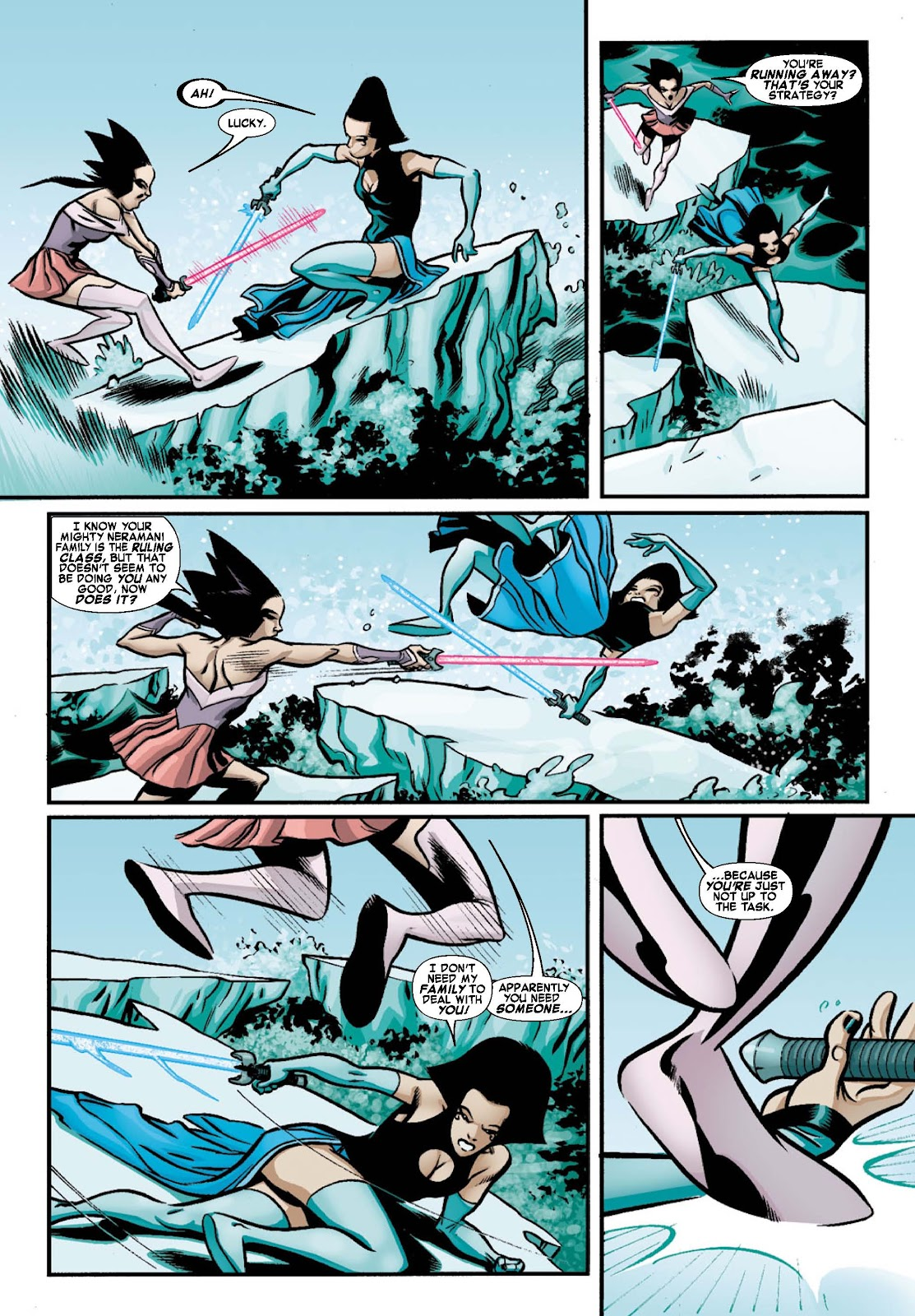 Read online War of Kings: Warriors - Lilandra comic -  Issue #1 - 6