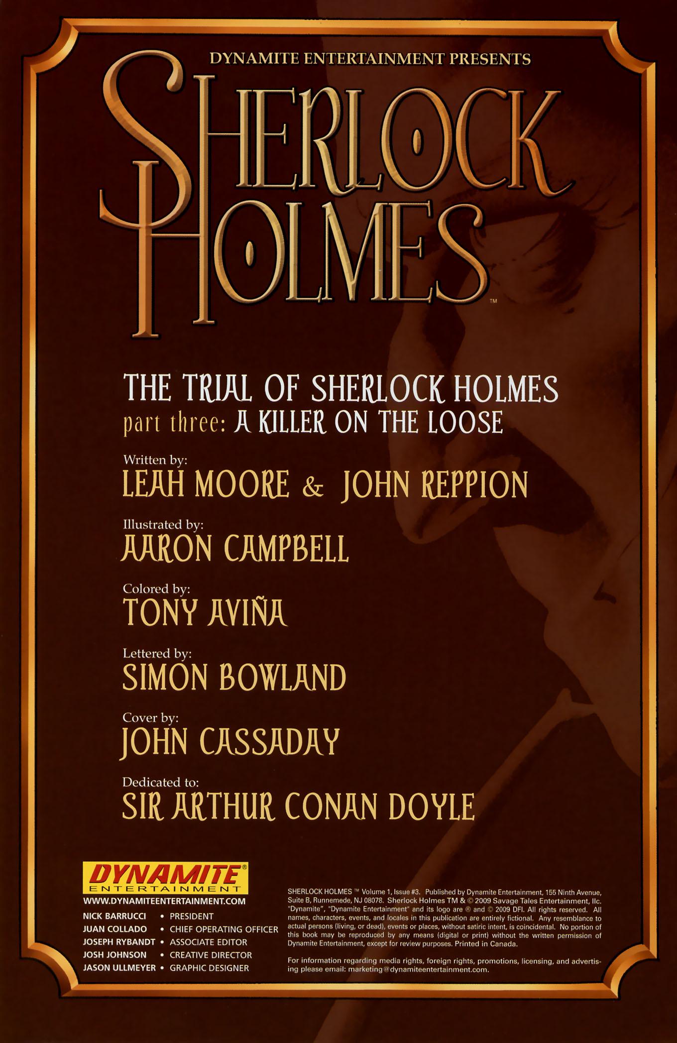 Read online Sherlock Holmes (2009) comic -  Issue #3 - 2