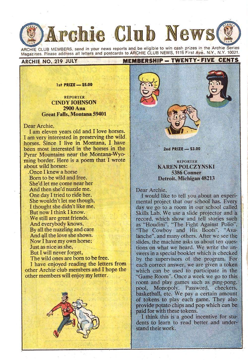 Read online Archie (1960) comic -  Issue #219 - 22