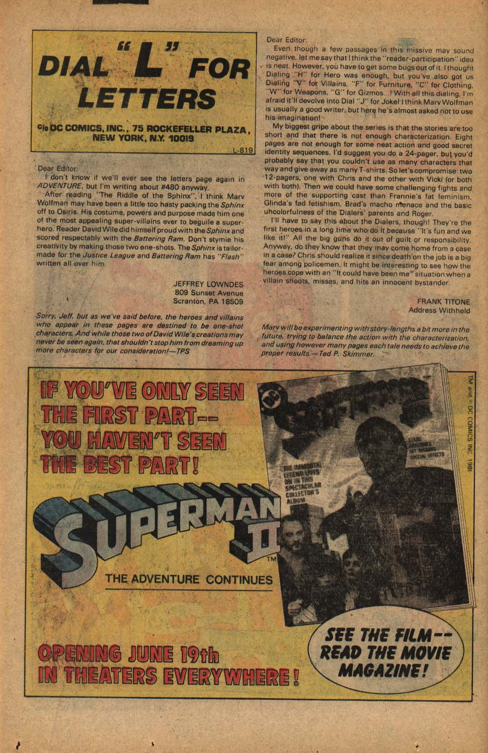 Read online Adventure Comics (1938) comic -  Issue #485 - 14