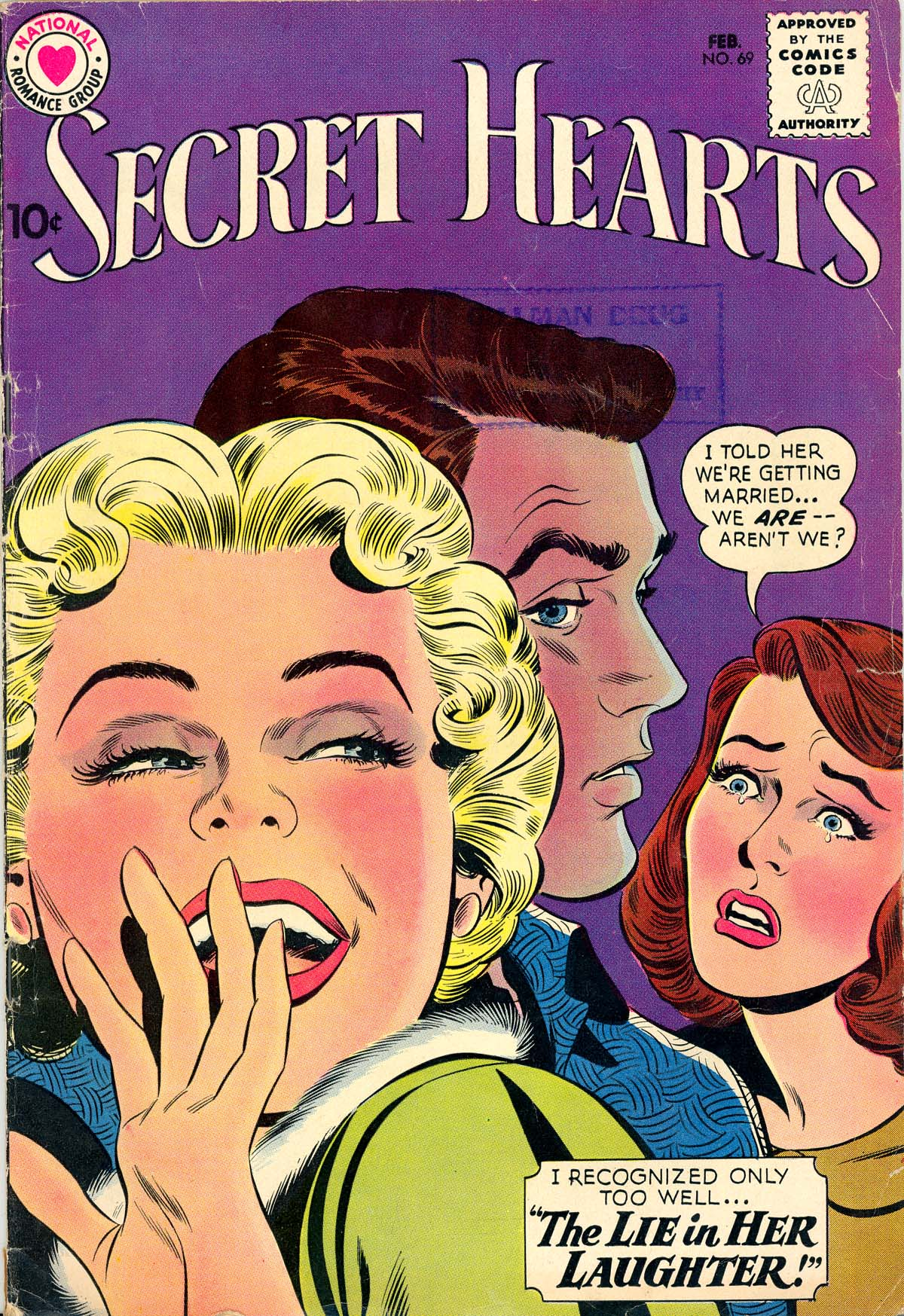 Read online Secret Hearts comic -  Issue #69 - 1