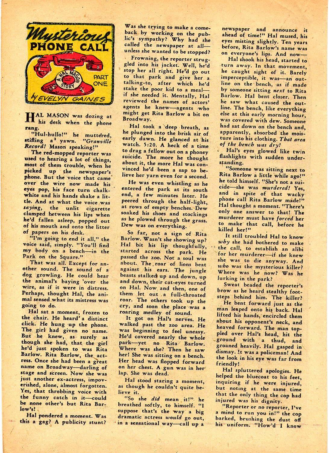 Read online Sensation (Mystery) Comics comic -  Issue #30 - 40