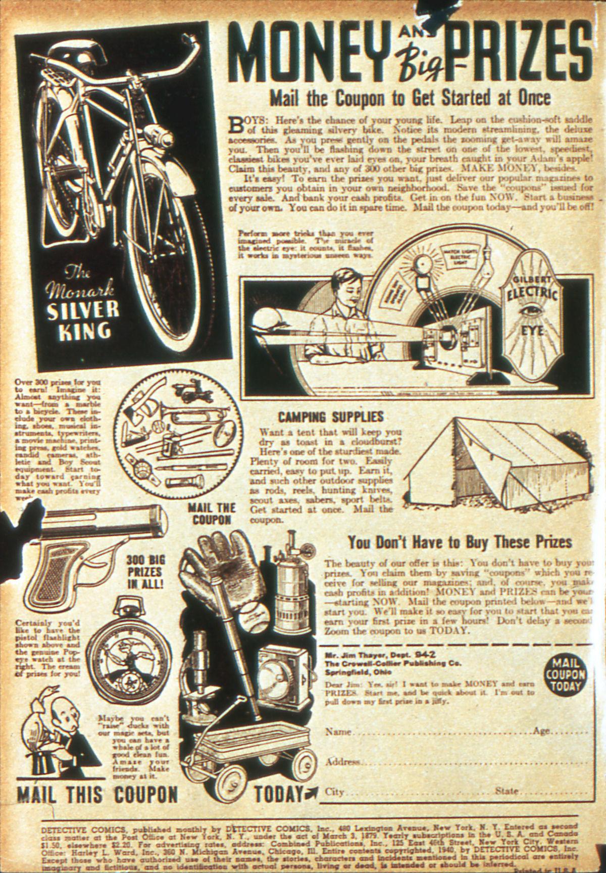 Read online Detective Comics (1937) comic -  Issue #39 - 2