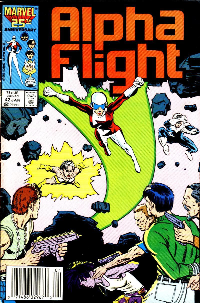 Read online Alpha Flight (1983) comic -  Issue #42 - 1