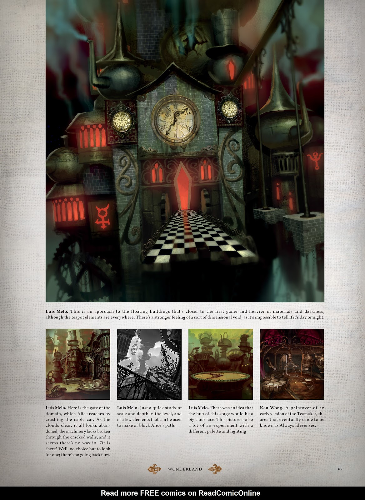 Read online The Art of Alice: Madness Returns comic -  Issue # TPB (Part 1) - 76