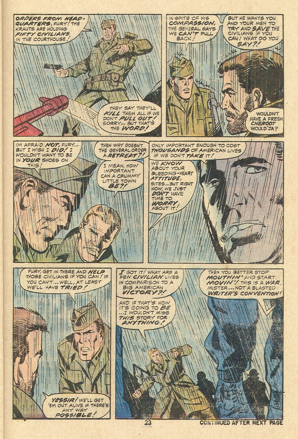 Read online Sgt. Fury comic -  Issue #110 - 25