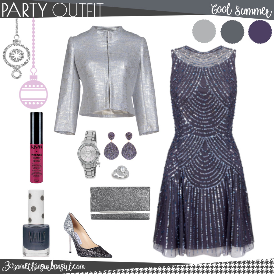Pretty holiday party outfit for Cool Summer seasonal color women