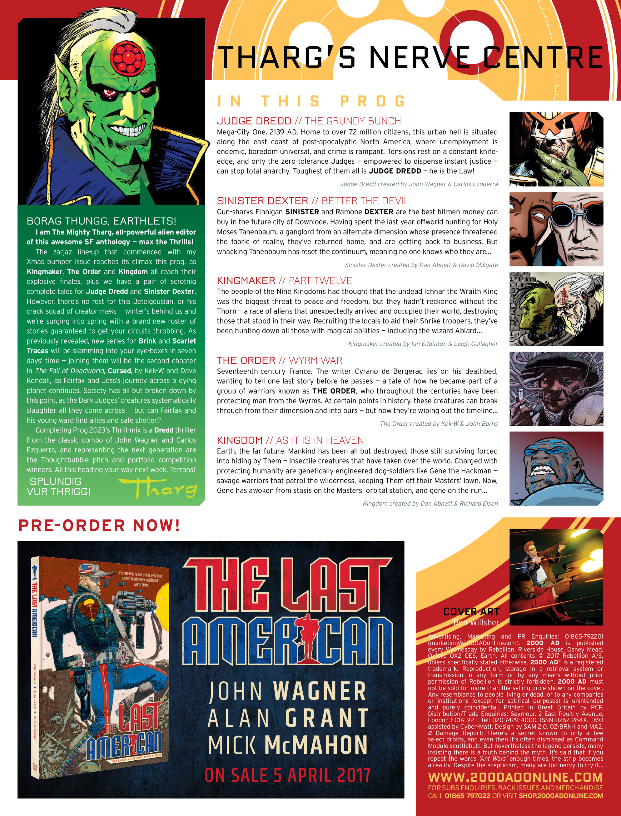 Read online 2000 AD comic -  Issue #2022 - 2