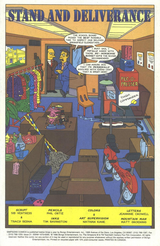 Read online Simpsons Comics comic -  Issue #21 - 2