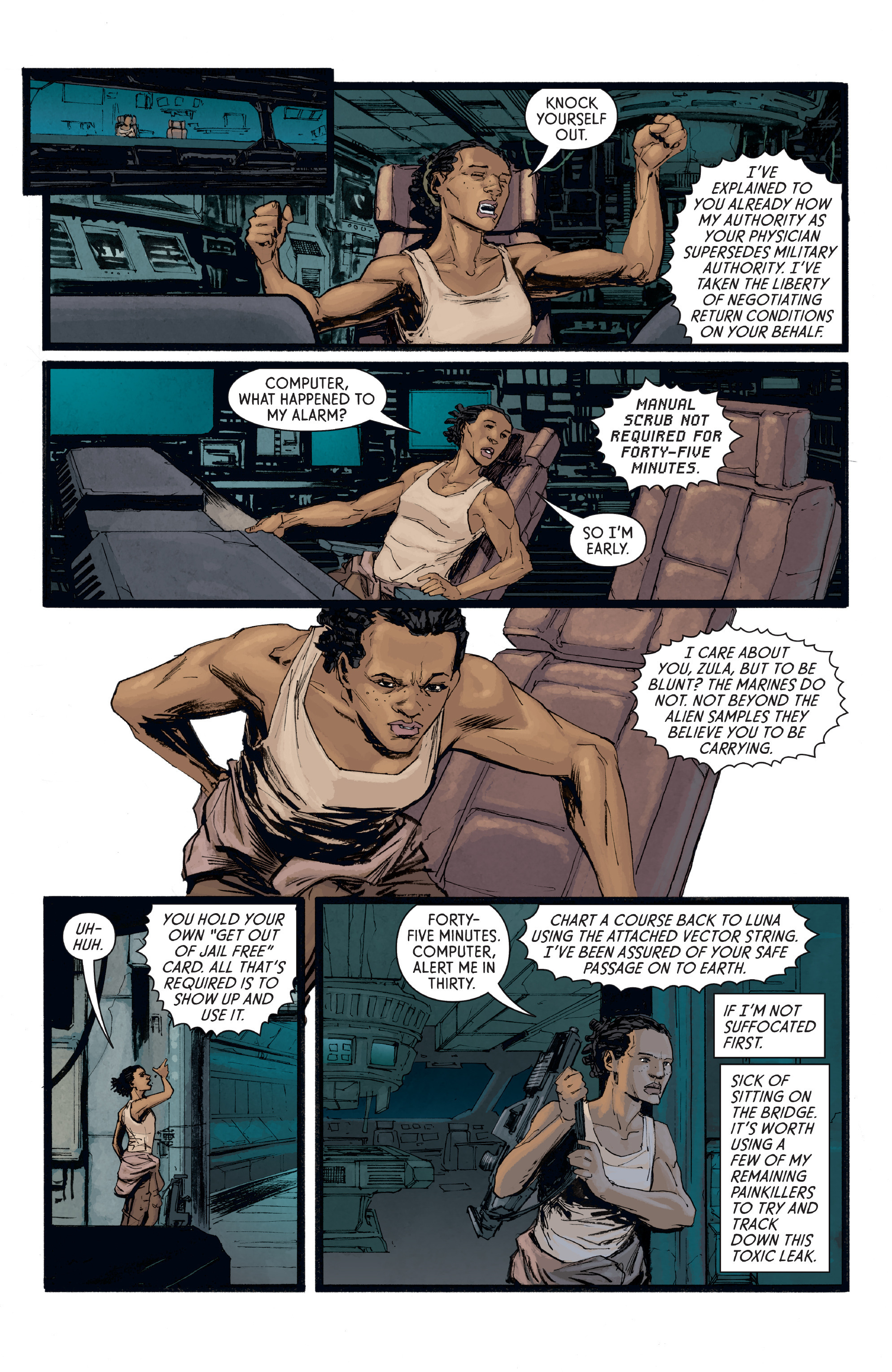 Read online Aliens: Defiance comic -  Issue #8 - 10