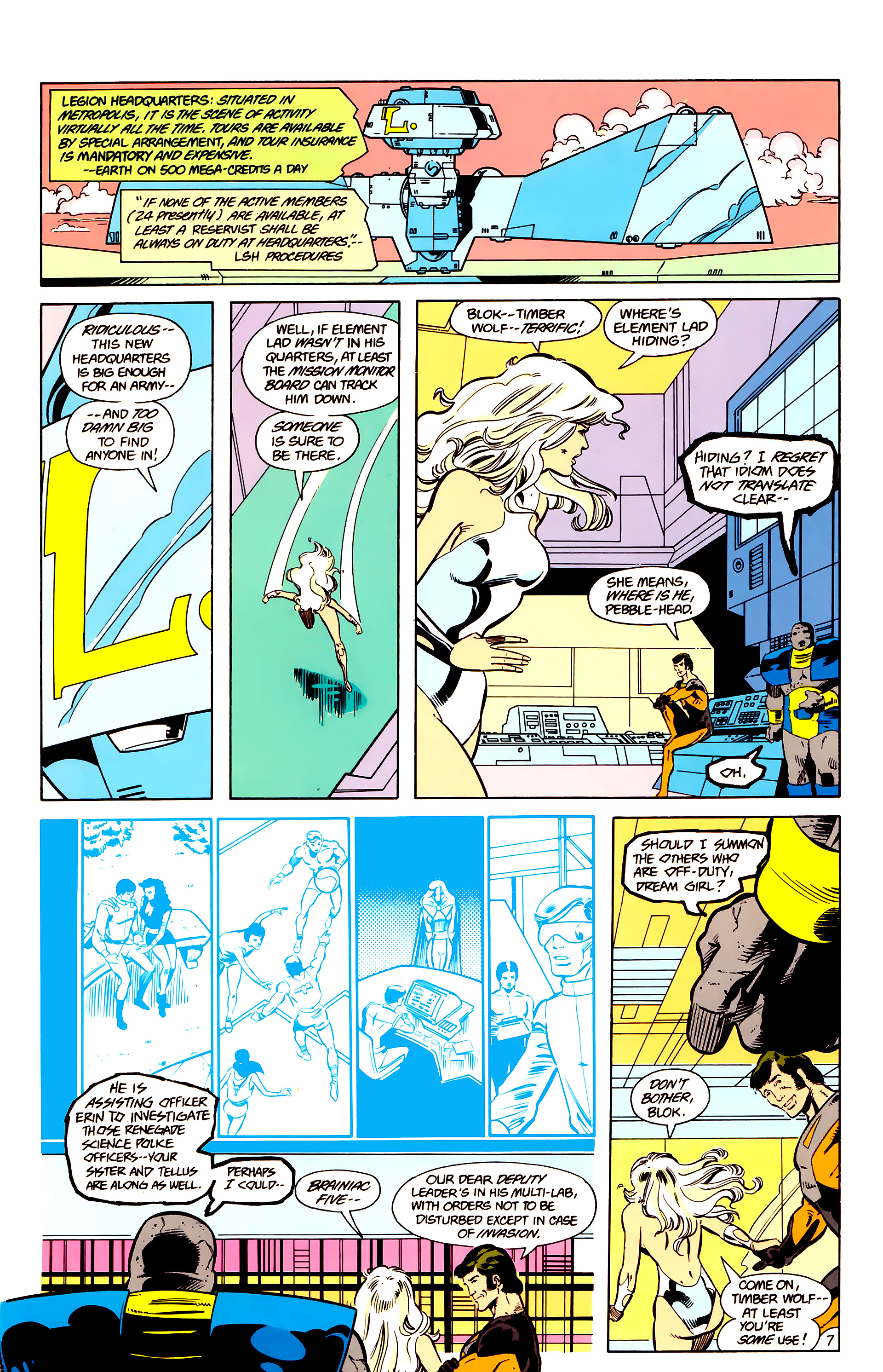 Legion of Super-Heroes (1984) 17 Page 8