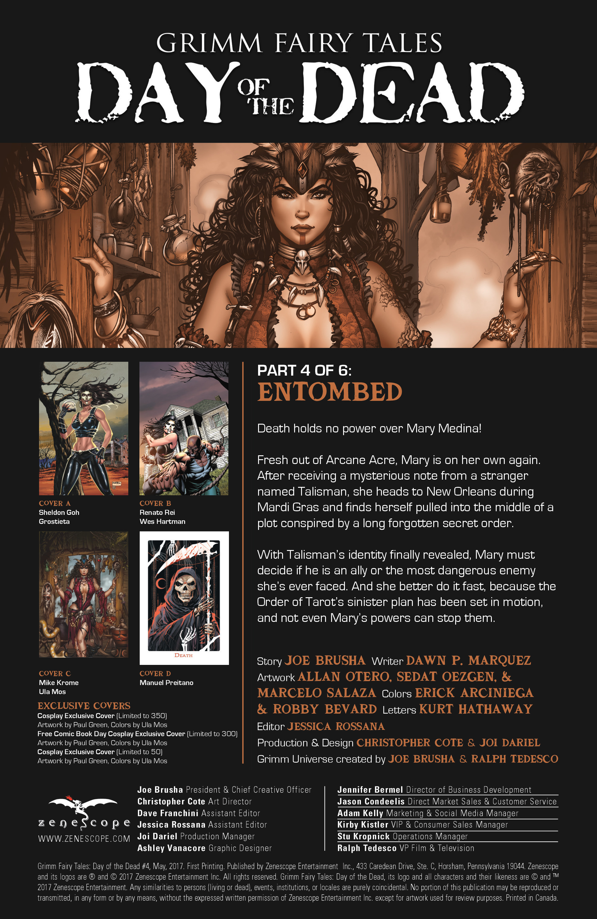 Read online Grimm Fairy Tales: Day of the Dead comic -  Issue #4 - 2