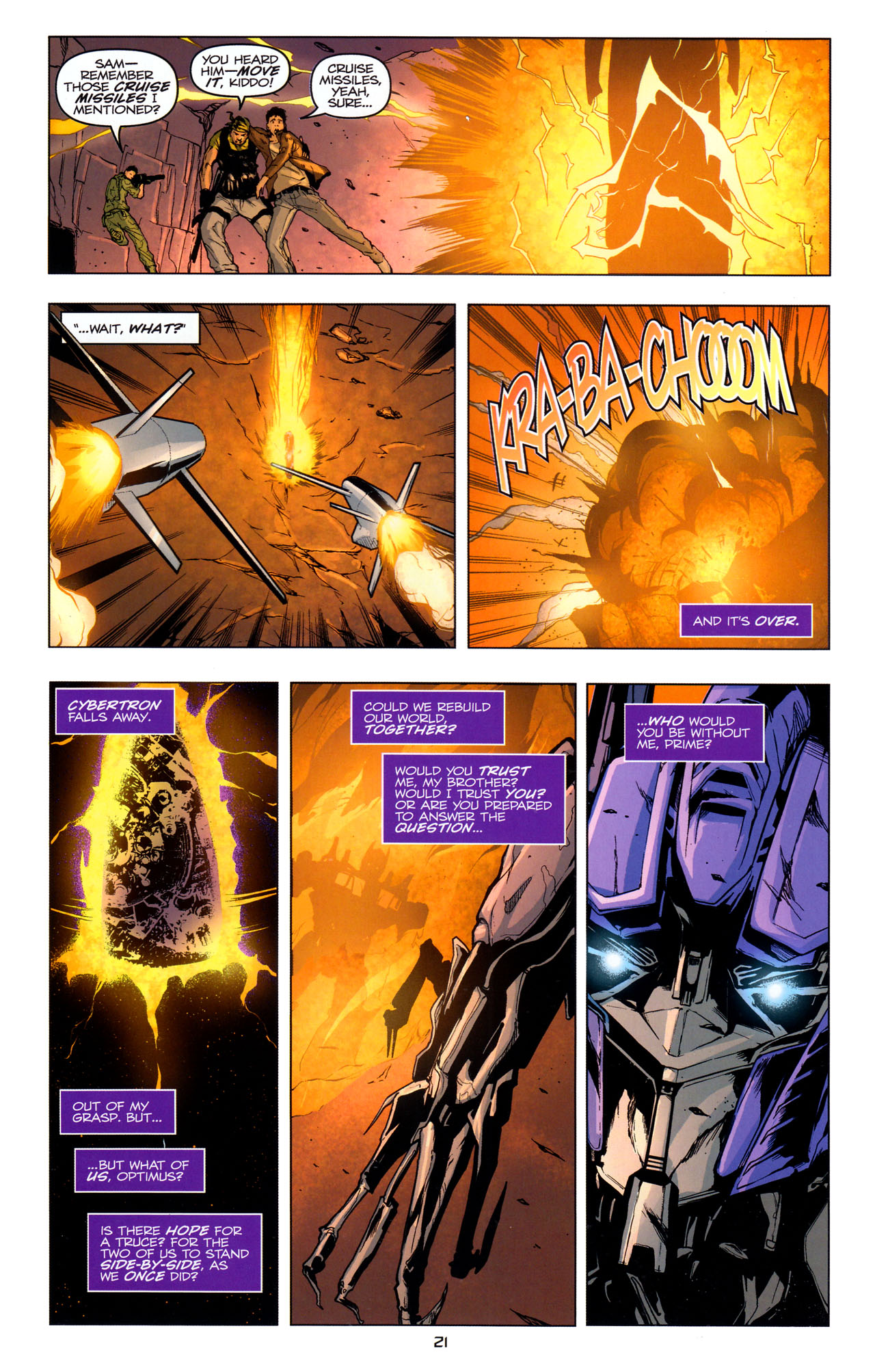 Read online Transformers: Dark of the Moon Movie Adaptation comic -  Issue #4 - 22