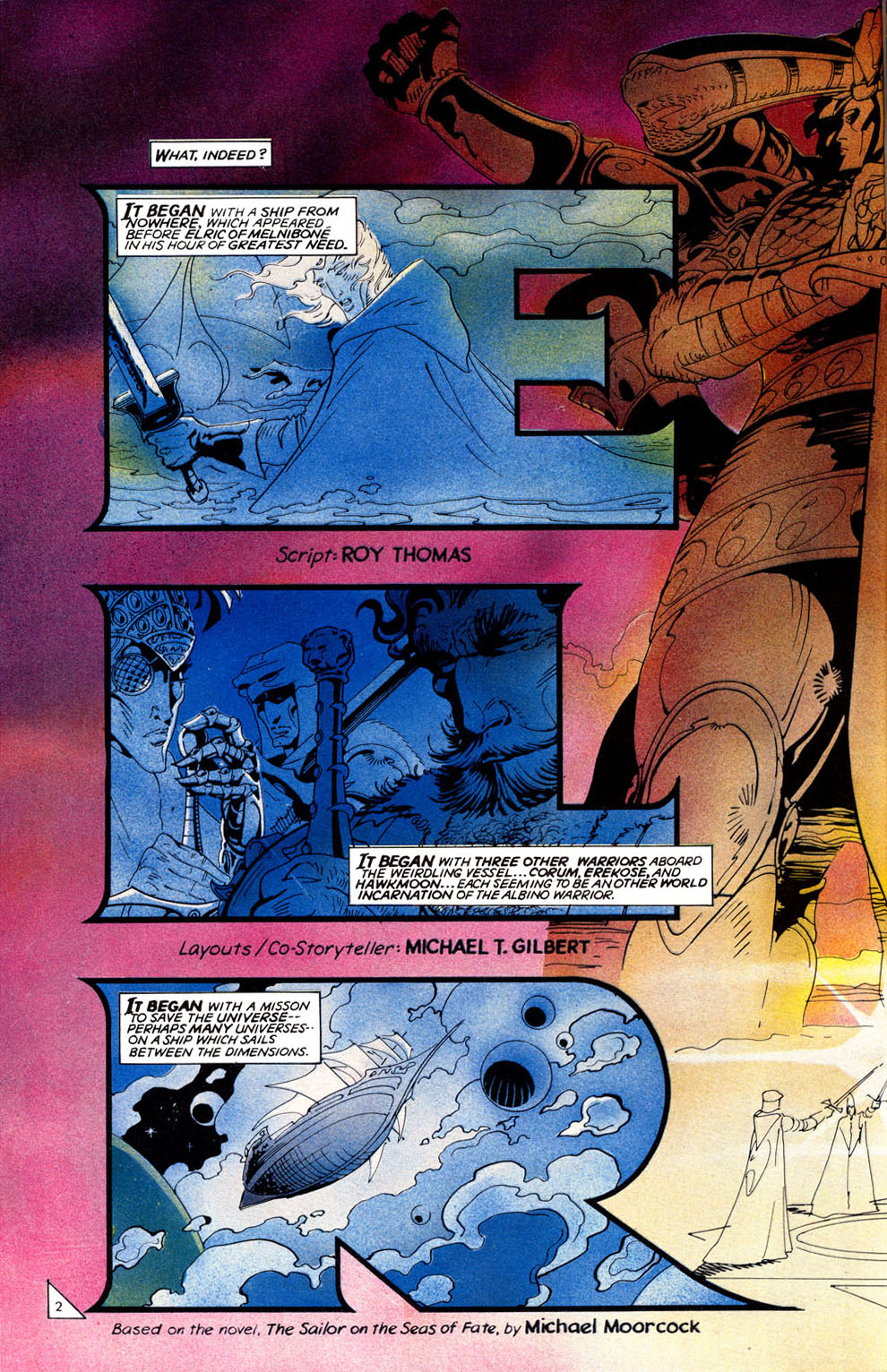 Read online Elric: Sailor on the Seas of Fate comic -  Issue #3 - 4