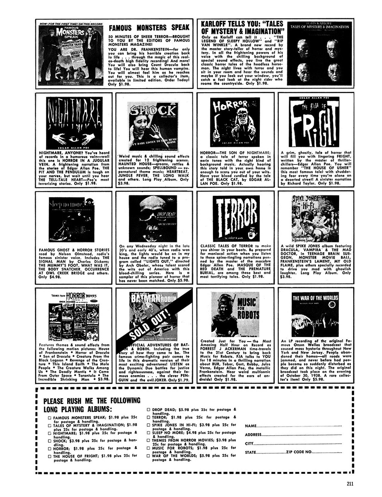 Read online Eerie Archives comic -  Issue # TPB 2 - 212