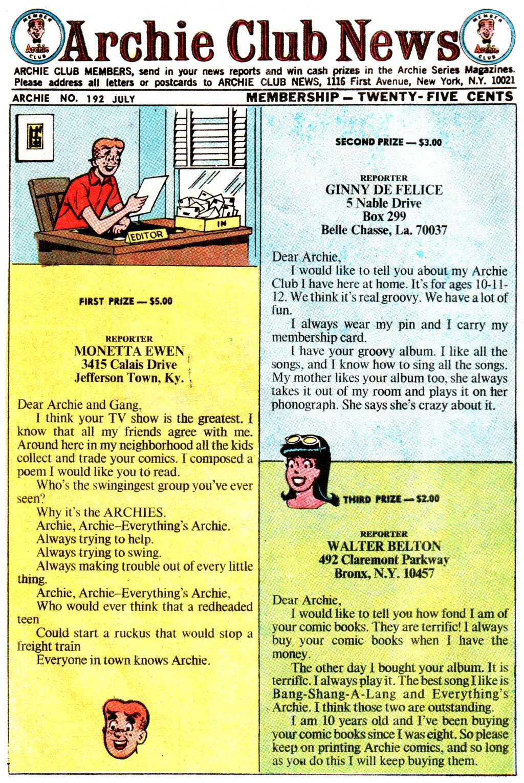 Read online Archie (1960) comic -  Issue #192 - 10