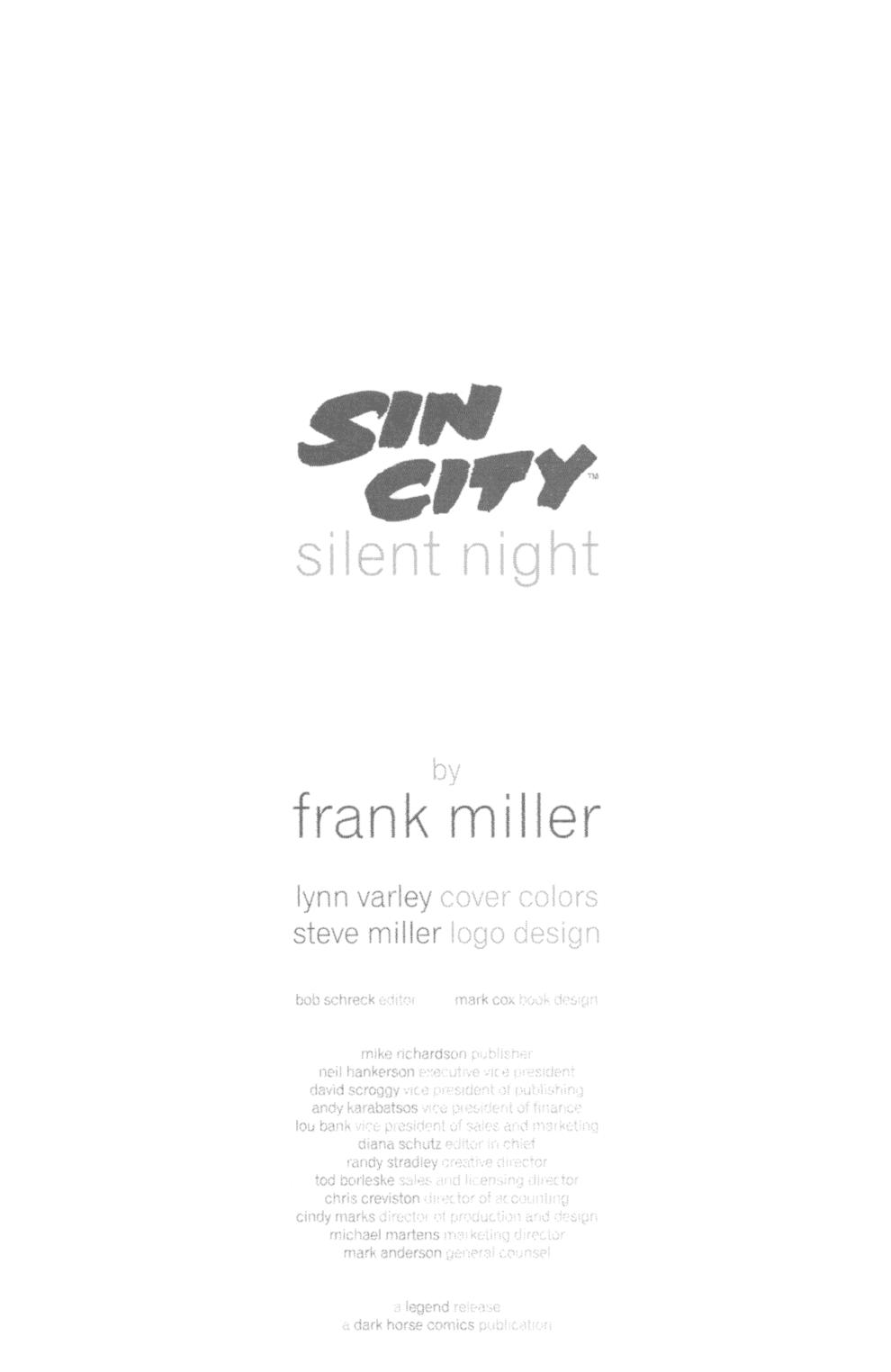 Read online Sin City: Silent Night comic -  Issue # Full - 28