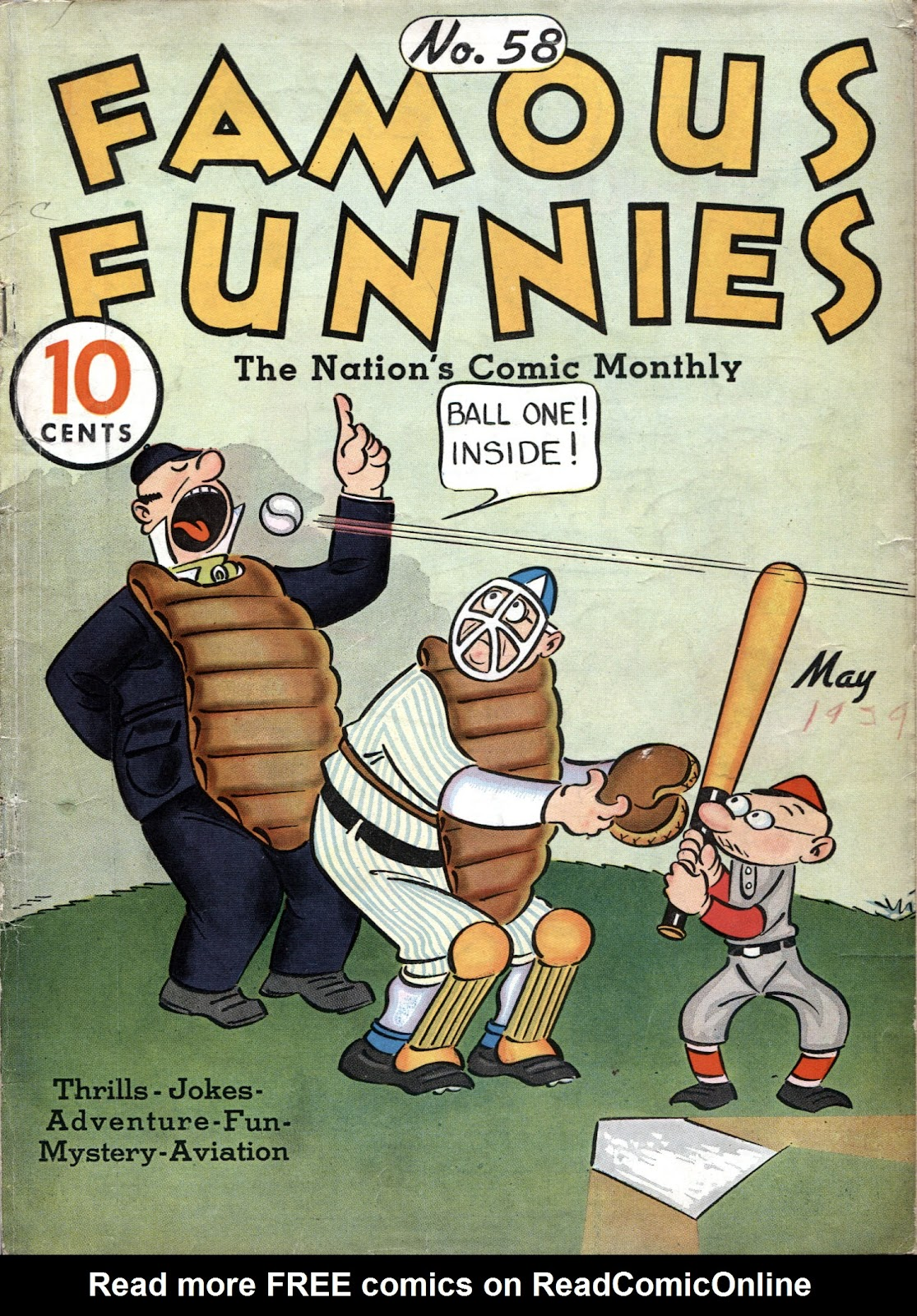 Read online Famous Funnies comic -  Issue #58 - 1