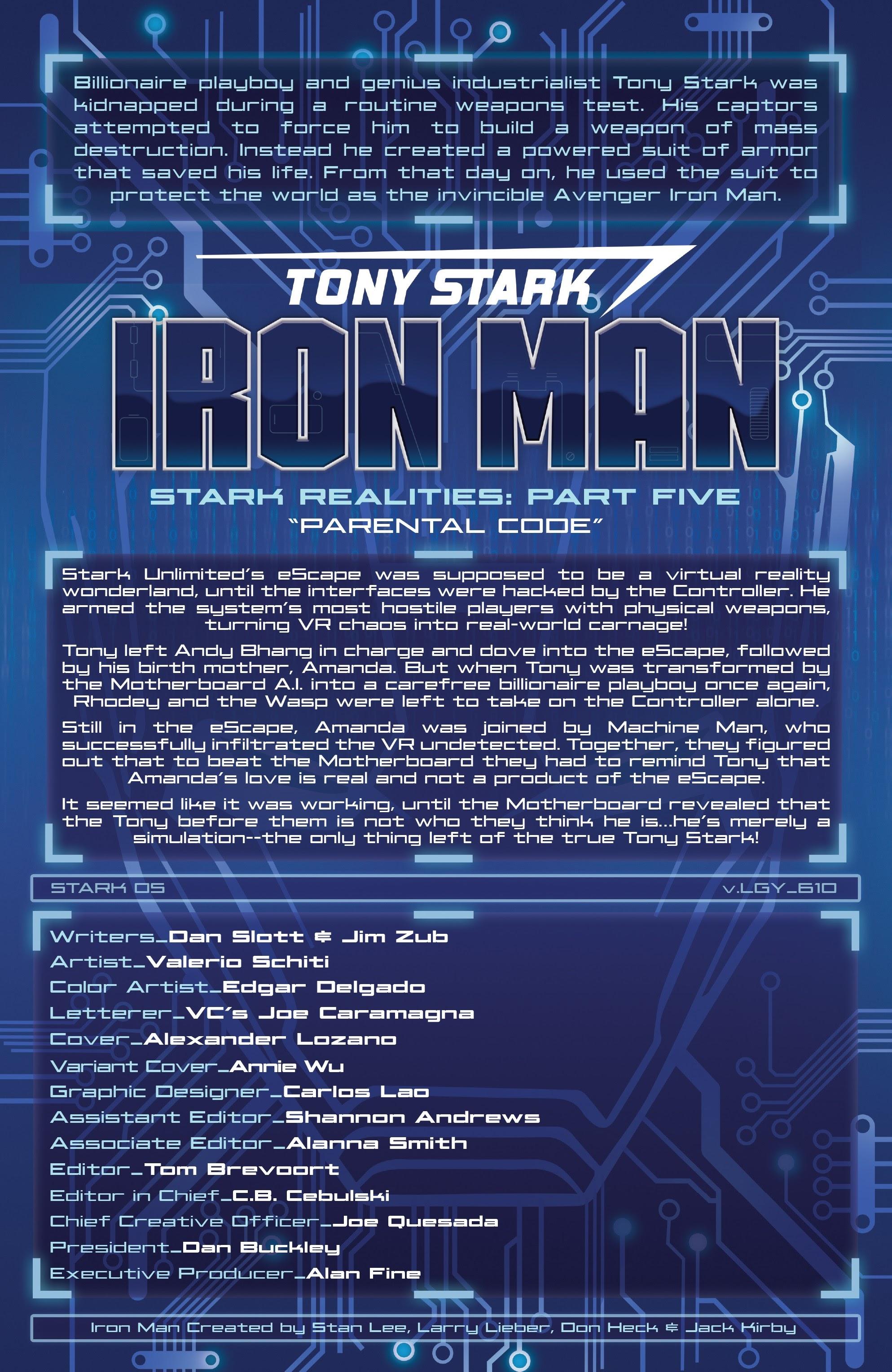 Read online Tony Stark: Iron Man comic -  Issue #10 - 2