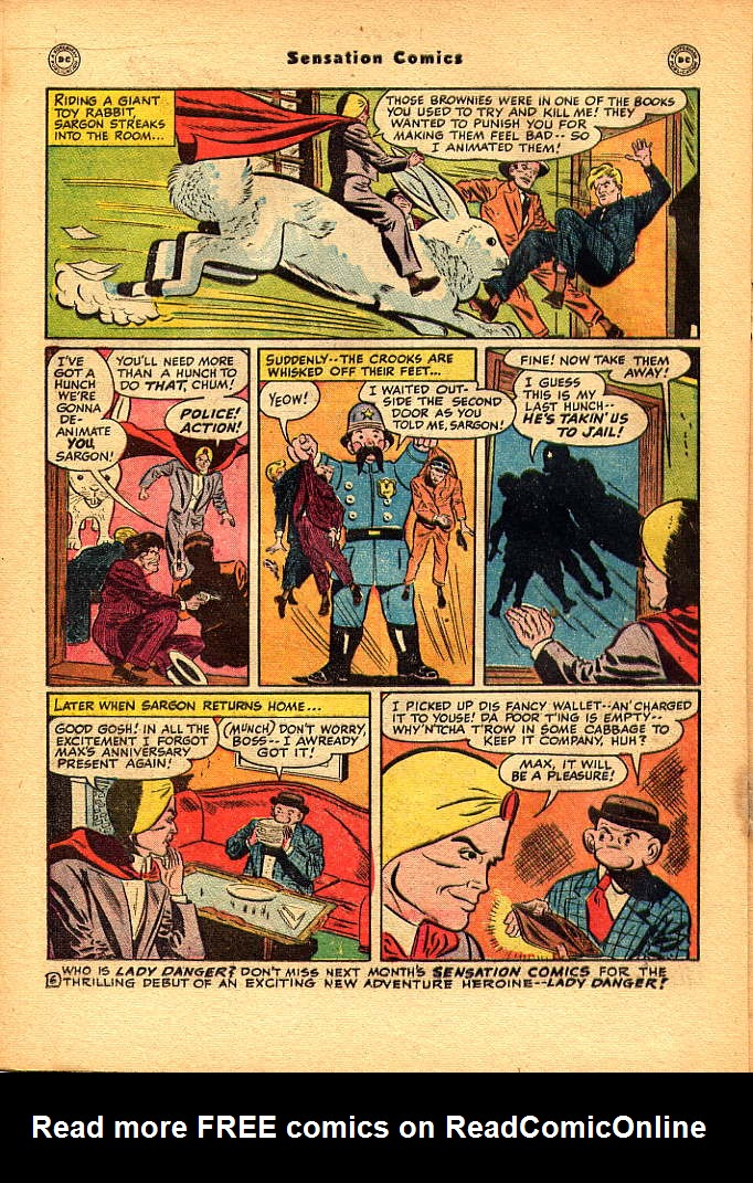 Read online Sensation (Mystery) Comics comic -  Issue #83 - 22