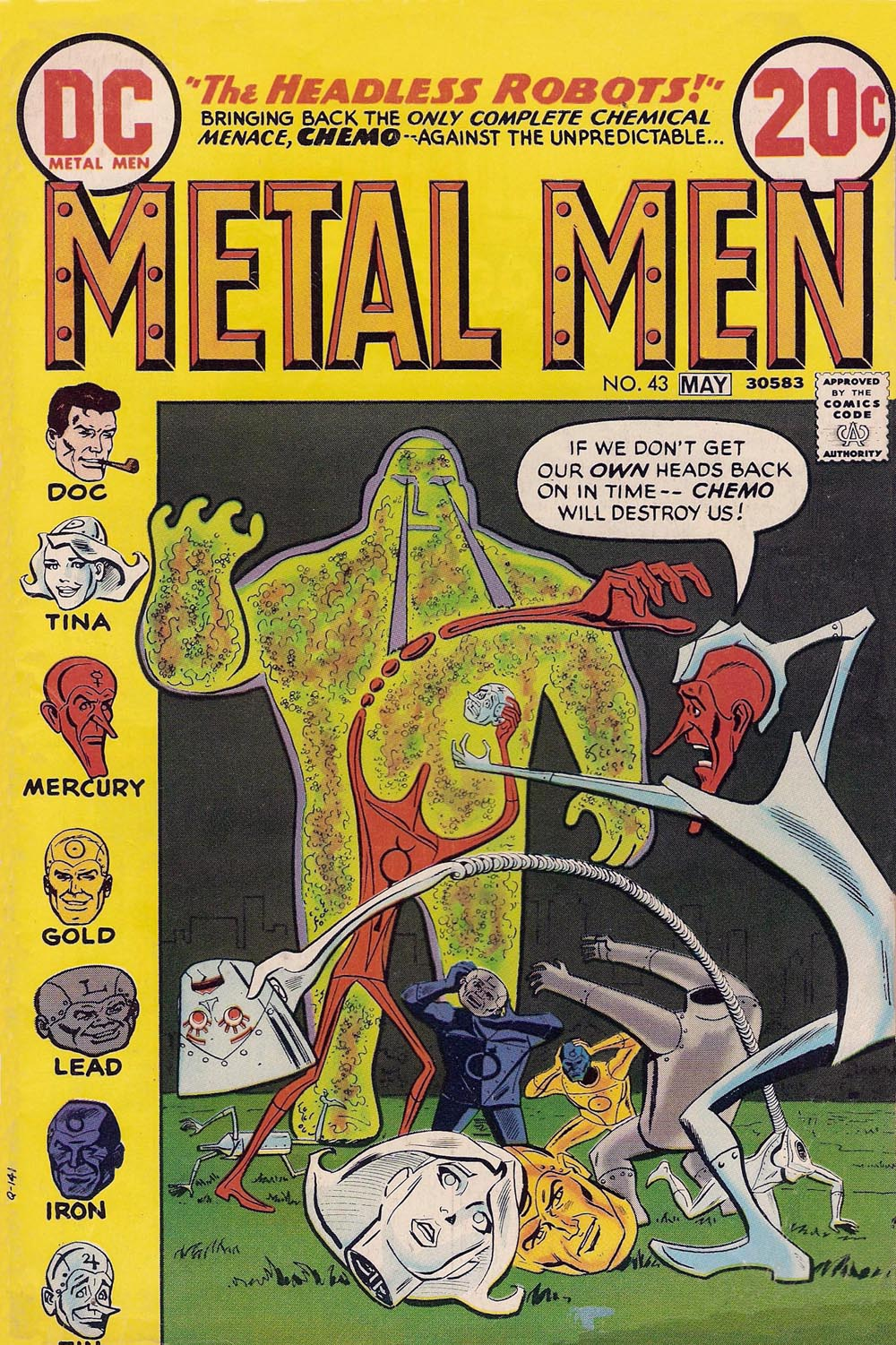 Metal Men (1963) issue 43 - Page 1
