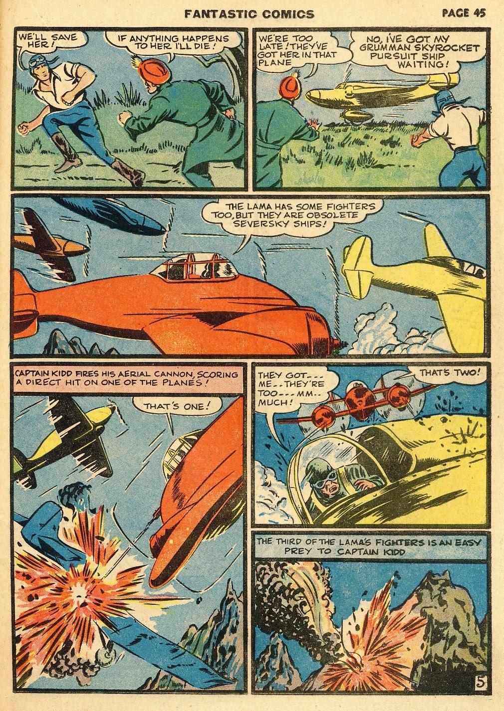 Read online Fantastic Comics comic -  Issue #10 - 46