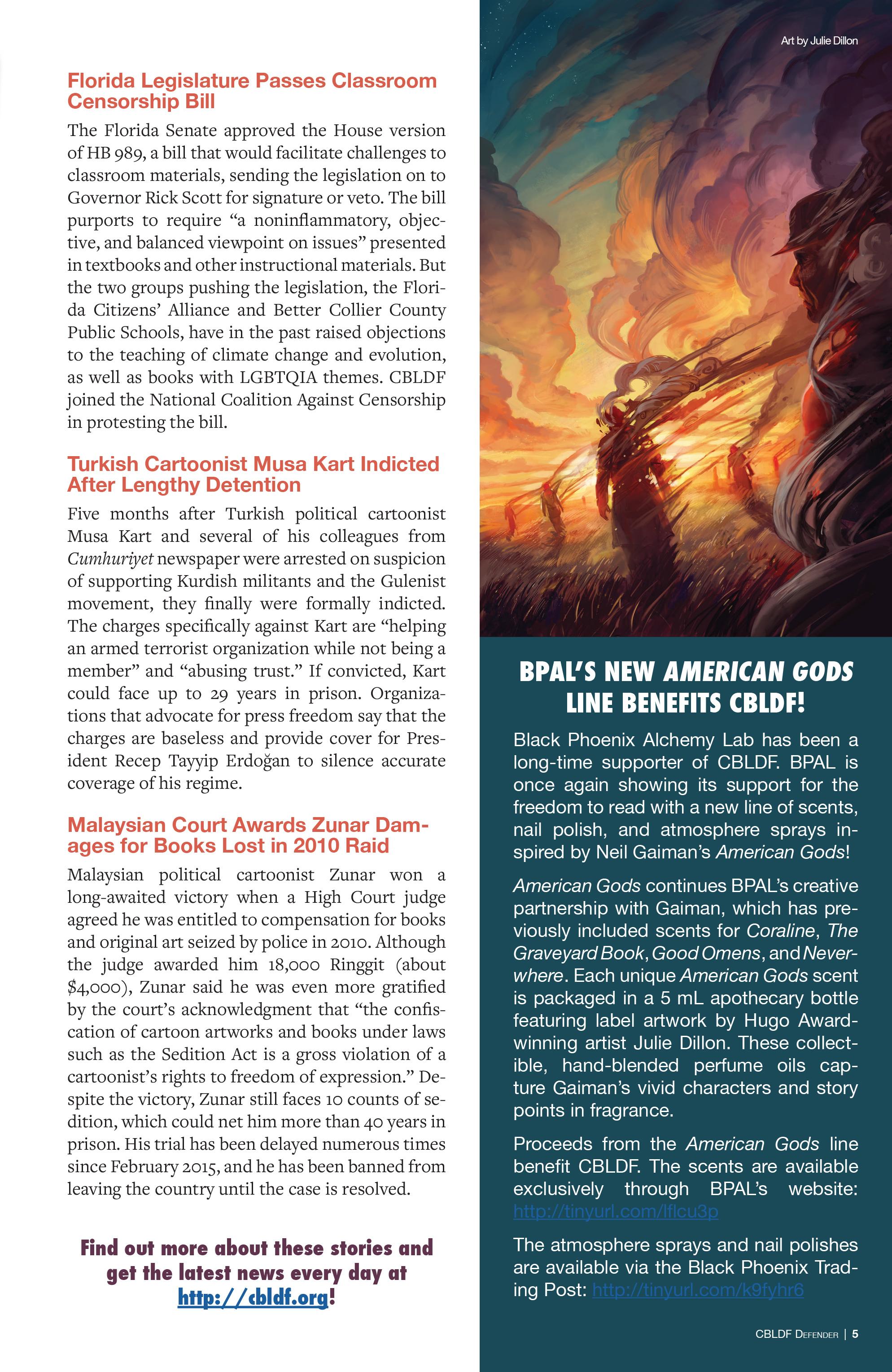 Read online CBLDF Defender Vol. 2 comic -  Issue #2 - 5