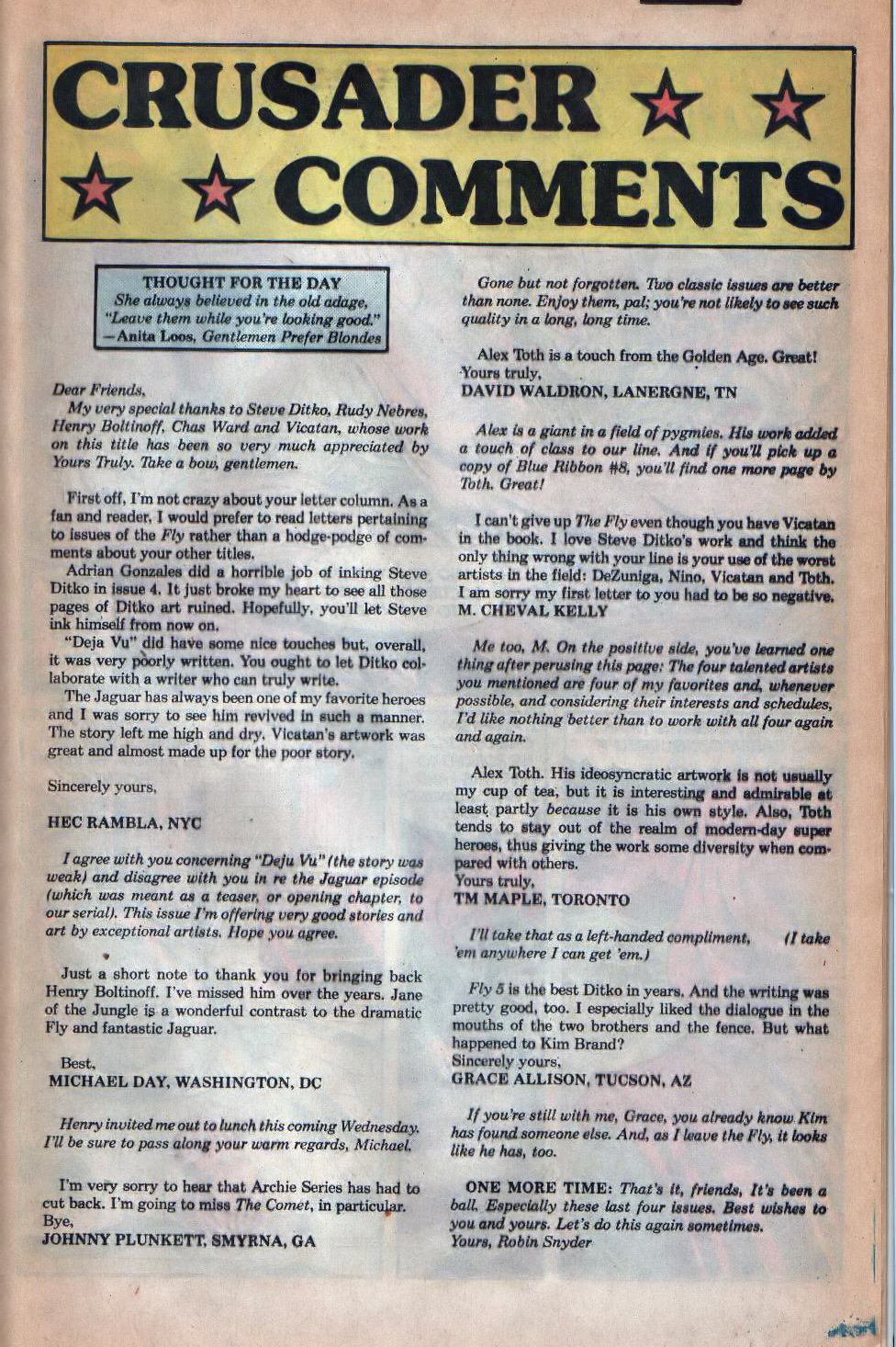 Read online The Fly (1983) comic -  Issue #8 - 18