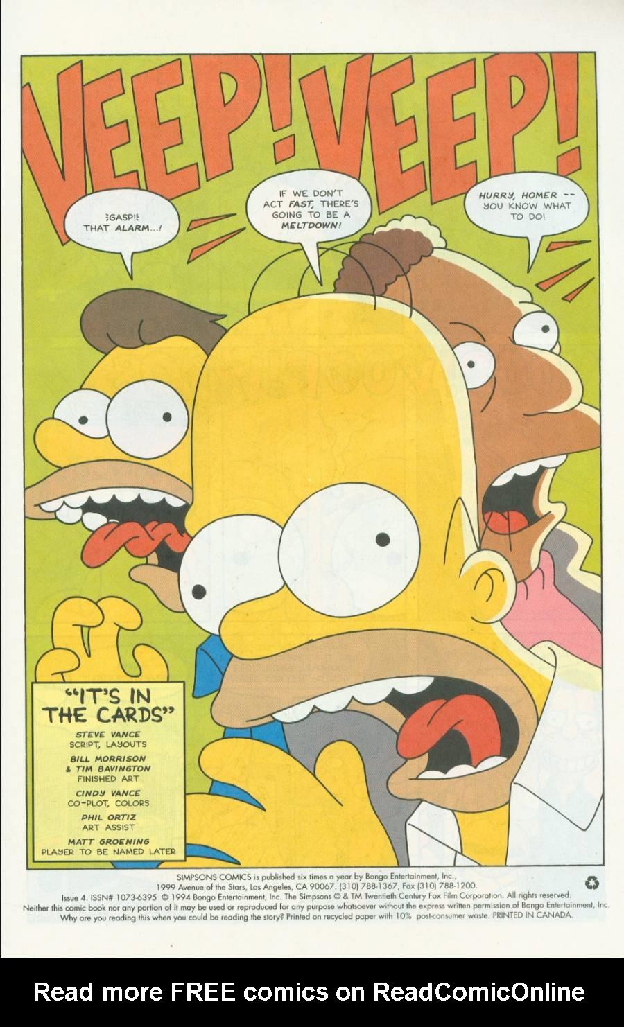 Read online Simpsons Comics comic -  Issue #4 - 2