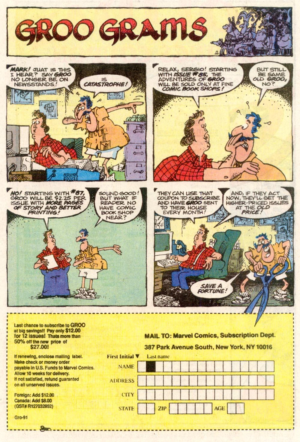 Read online Sergio Aragonés Groo the Wanderer comic -  Issue #84 - 24