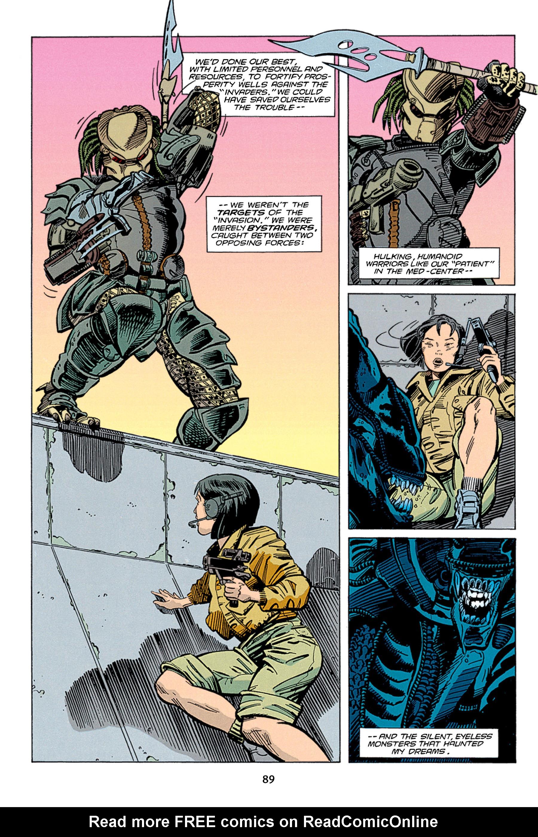 Read online Aliens vs. Predator Omnibus comic -  Issue # _TPB 1 Part 1 - 89