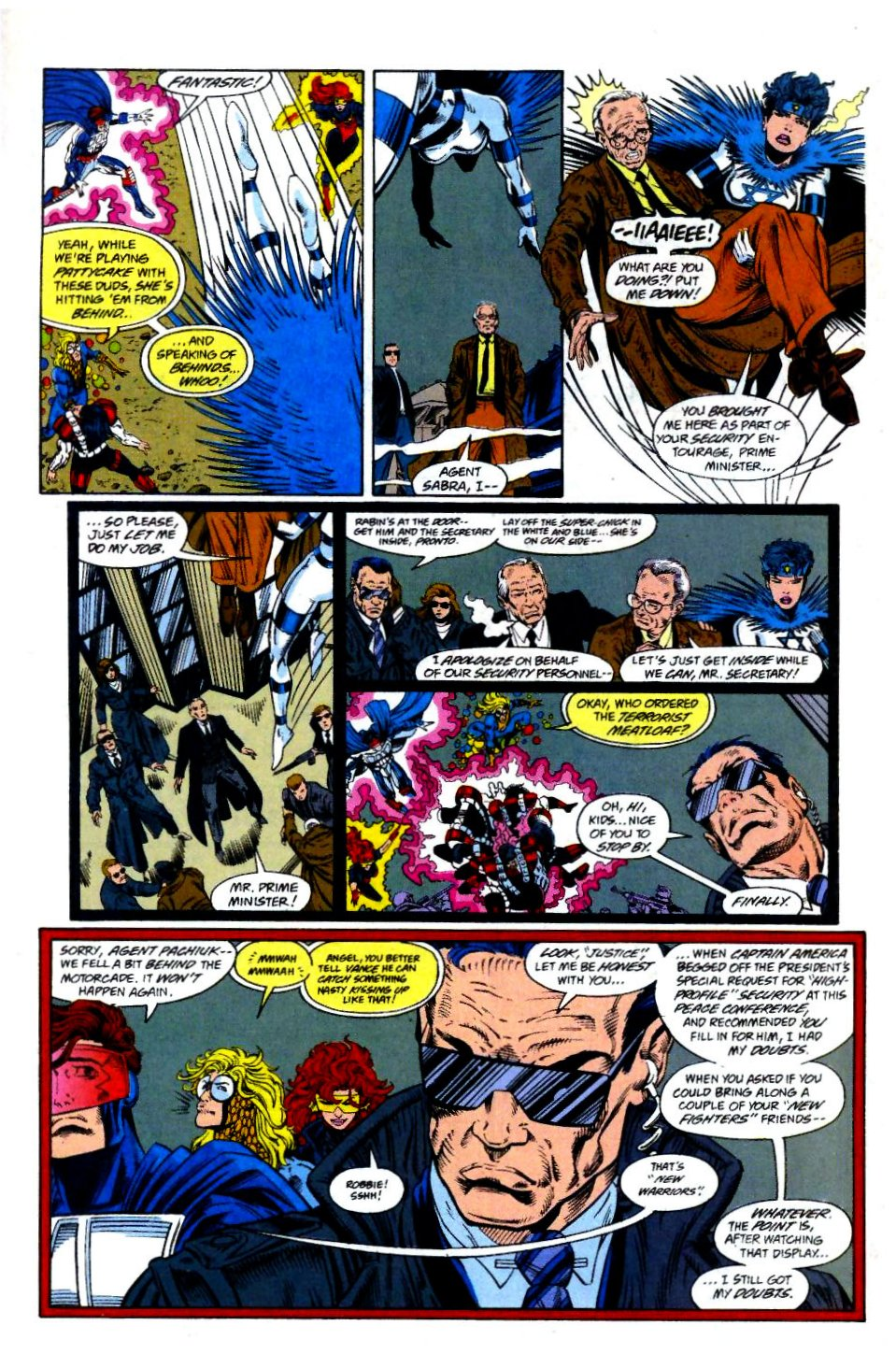 The New Warriors Issue #58 #62 - English 9