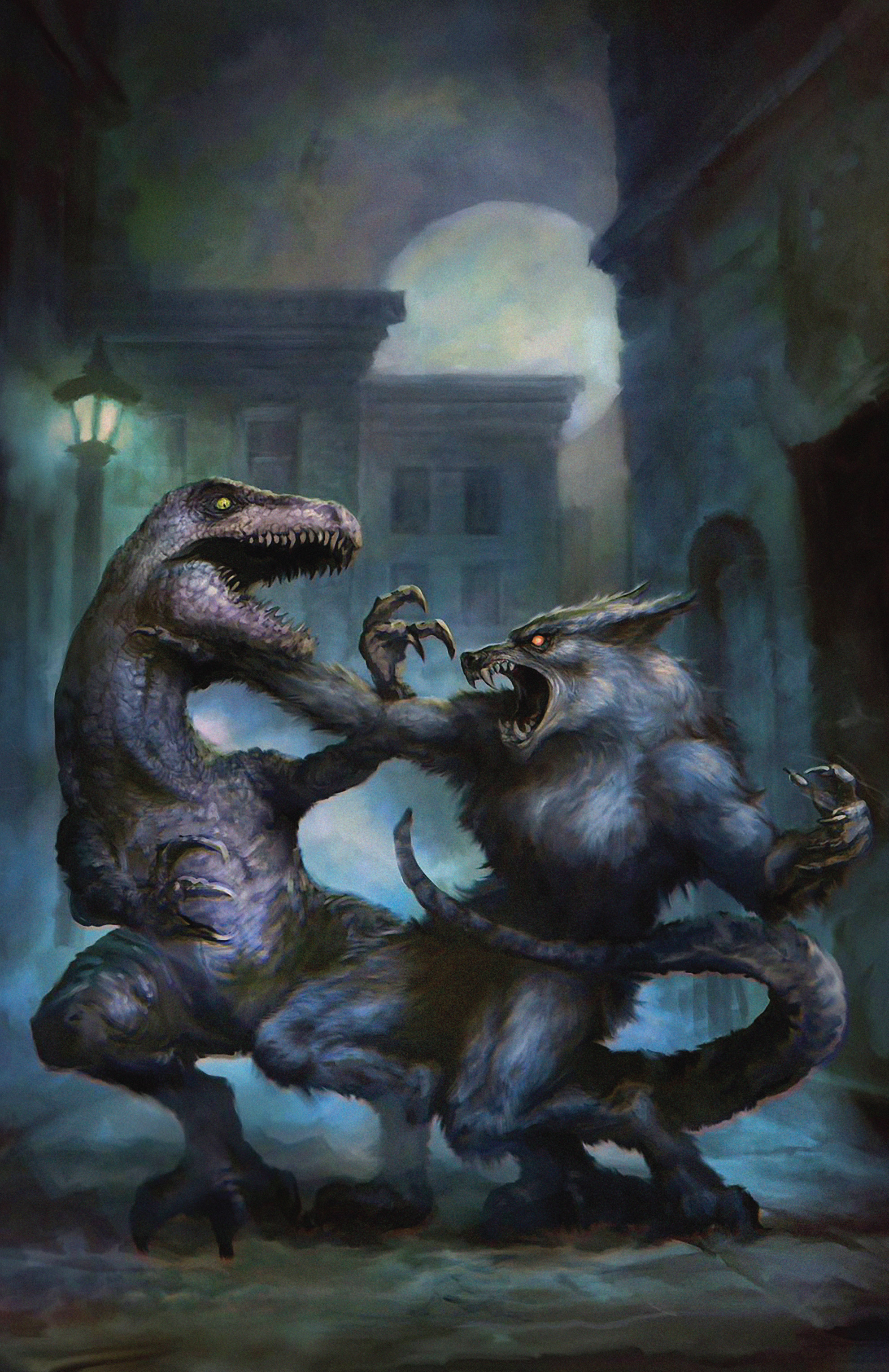 Read online American Mythology Dark: Werewolves vs Dinosaurs comic -  Issue #2 - 34
